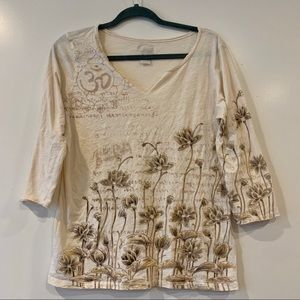 Lucky Brand top in neutral beige colors